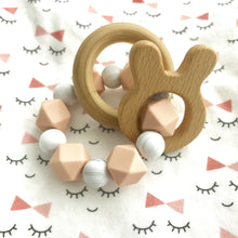Love my Bunny Blush/Marble Teether Rattle