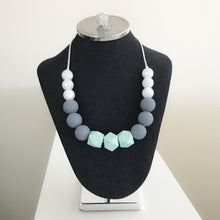 Mint/Grey Teething Necklace