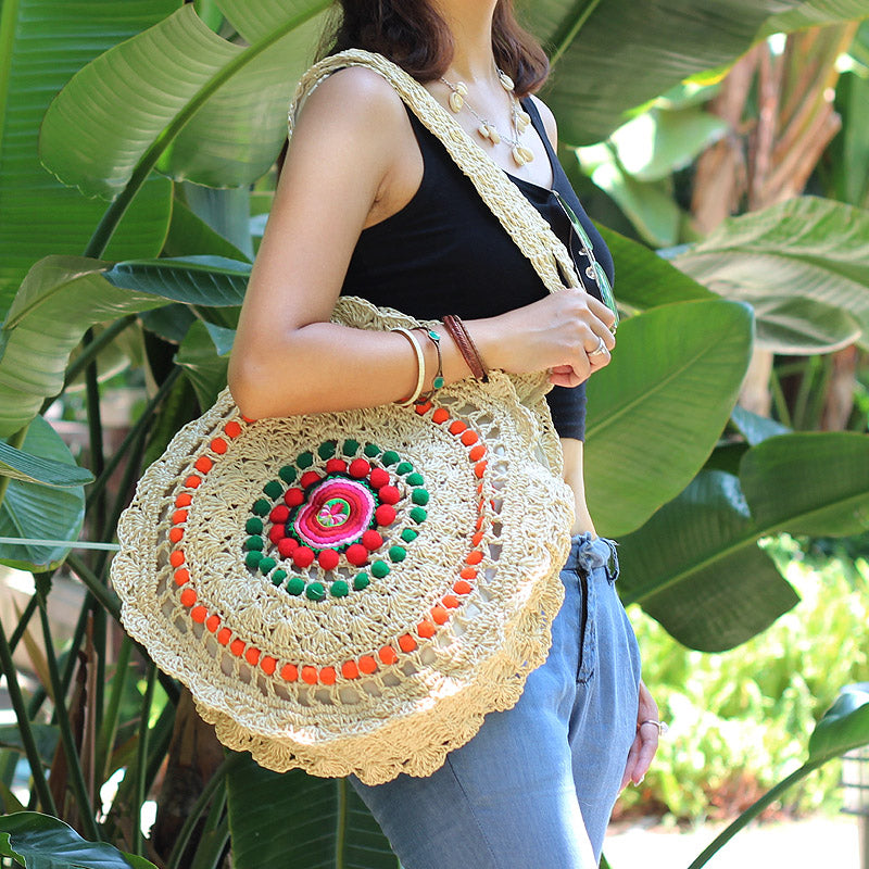 Crochet Indian Woven Shoulder Bag