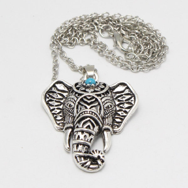 Ethnic Elephant Choker Necklace Chain-Necklace-Boho-Chic.shop
