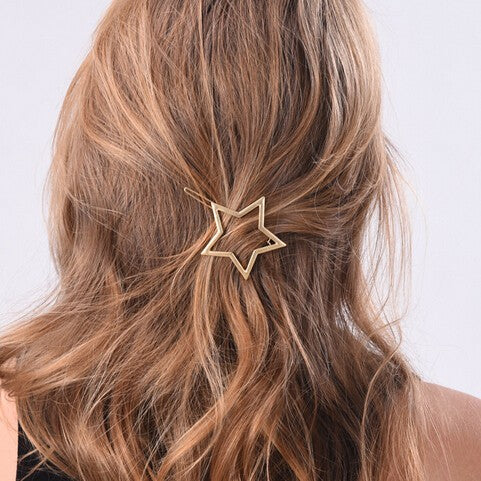 Cute heart star design Barrettes Hair Clip