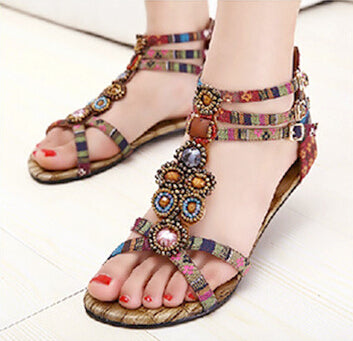 Flat Sandals Ankle T-strap