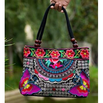 Canvas Ethnic Thai Handbag