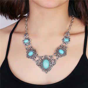 Turquoise Boho Necklace-Necklace-Boho-Chic.shop