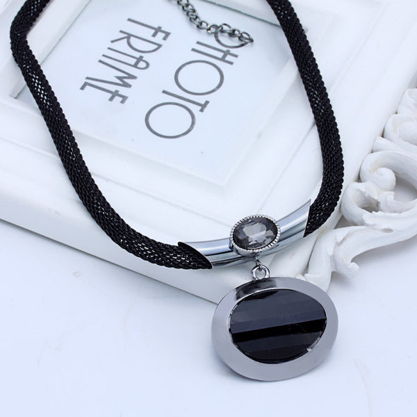 Elegant Black Clavicle Necklace-Necklace-Boho-Chic.shop