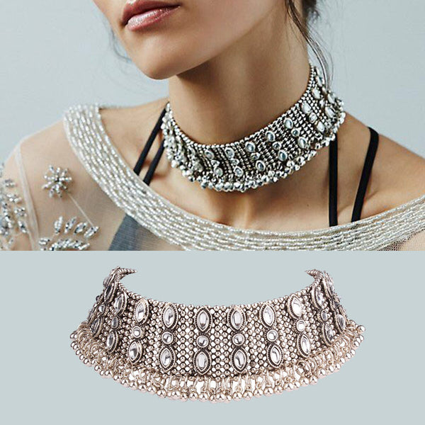 Luxury Metal Choker Necklace-Chokers-Boho-Chic.shop