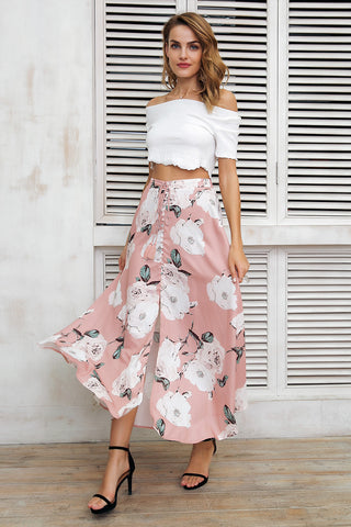 White flower love skirt
