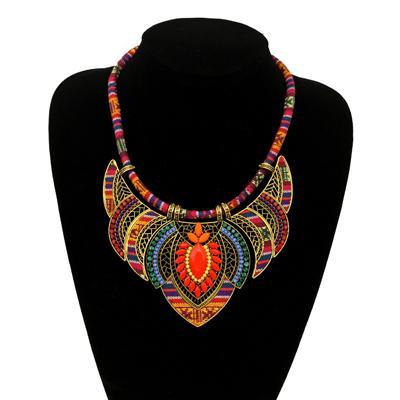 Multicolor Tribal Pendant