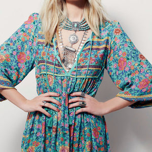 Autumn Boho Maxi Long Dress