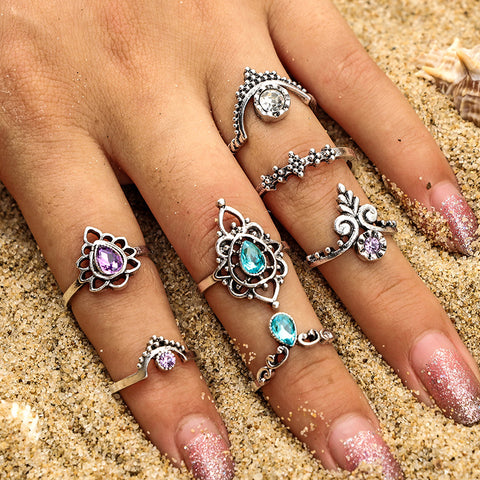 7 pcs/set Vintage Knuckle Rings