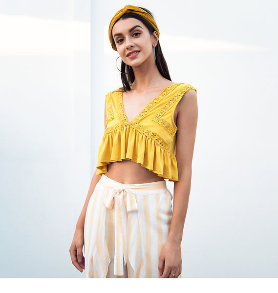 Pumplum crop top