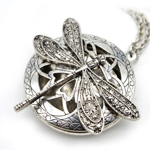Dragonfly Locket Necklace-Necklace-Boho-Chic.shop