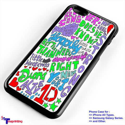 1D One Direction Happily Lyric - Personalized iPhone 7 Case, iPhone 6/6S Plus, 5 5S SE, 7S Plus, Samsung Galaxy S5 S6 S7 S8 Case, and Other