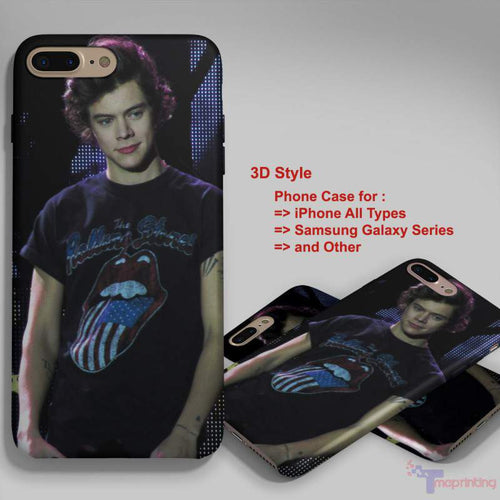 1D One Direction Harry Styles - Personalized iPhone 7 Case, iPhone 6/6S Plus, 5 5S SE, 7S Plus, Samsung Galaxy S5 S6 S7 S8 Case, and Other