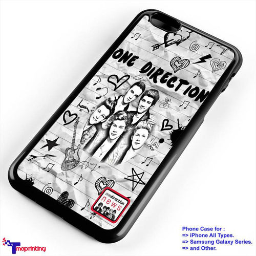 1D band One Direction - Personalized iPhone 7 Case, iPhone 6/6S Plus, 5 5S SE, 7S Plus, Samsung Galaxy S5 S6 S7 S8 Case, and Other