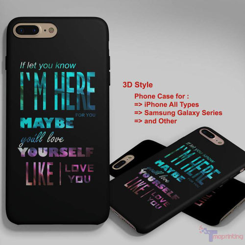 1D one direction quote - Personalized iPhone 7 Case, iPhone 6/6S Plus, 5 5S SE, 7S Plus, Samsung Galaxy S5 S6 S7 S8 Case, and Other