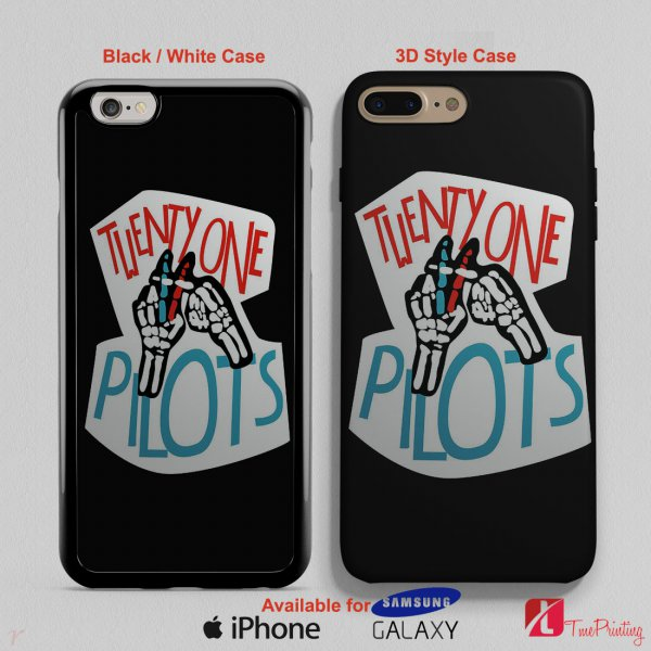 21 PILOTS BAND LOGO Twenty One Pilots - Personalized iPhone X Case, iPhone Cases, Samsung Galaxy Cases 3026