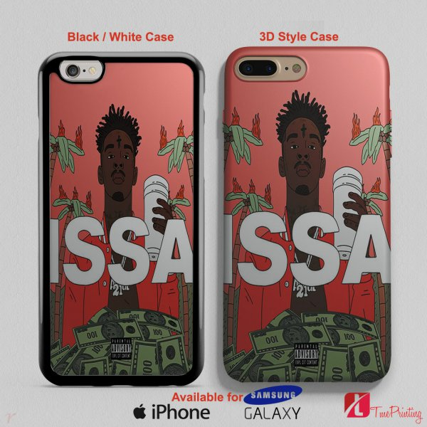 21 Savage Drops Issa - Personalized iPhone X Case, iPhone Cases, Samsung Galaxy Cases 3187