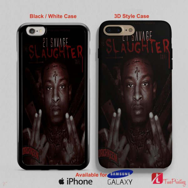 21 Savage the Slaughter Tape - Personalized iPhone X Case, iPhone Cases, Samsung Galaxy Cases 3188
