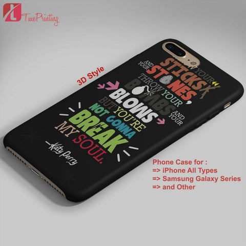 5 SOS Lyric Katy Perry Lyric 5 seconds of summer  - Personalized iPhone 7 Case, iPhone 6/6S Plus, 5 5S SE, 7S Plus, Samsung Galaxy S5 S6 S7 S8 Case, and Other