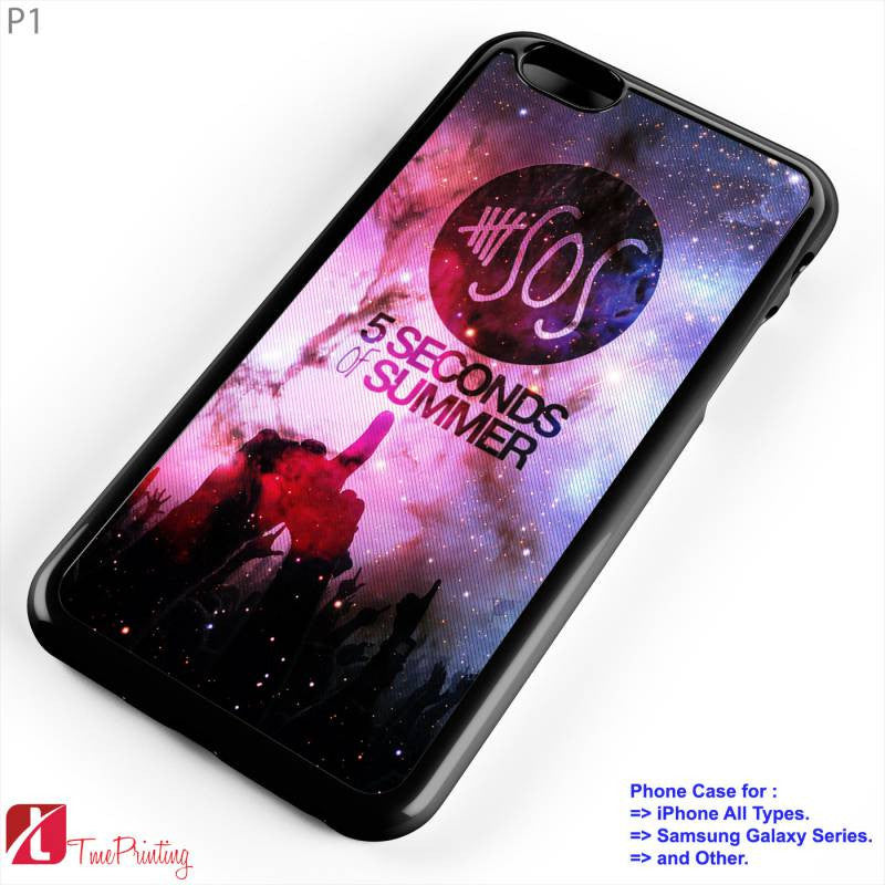 5 SOS Seconds Of Summer - Personalized iPhone 7 Case, iPhone 6/6S Plus, 5 5S SE, 7S Plus, Samsung Galaxy S5 S6 S7 S8 Case, and Other