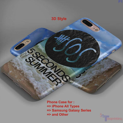 5 Seconds Of Summer Collage - Personalized iPhone 7 Case, iPhone 6/6S Plus, 5 5S SE, 7S Plus, Samsung Galaxy S5 S6 S7 S8 Case, and Other