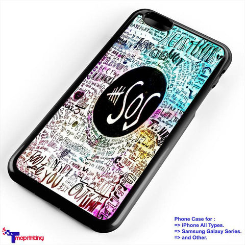 5 Seconds Of Summer Lyrics - Personalized iPhone 7 Case, iPhone 6/6S Plus, 5 5S SE, 7S Plus, Samsung Galaxy S5 S6 S7 S8 Case, and Other
