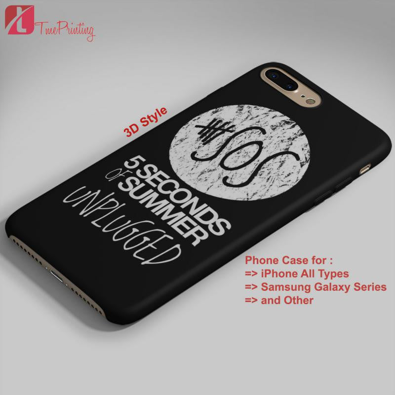 5 Seconds of Summer Unplugged Album 5SOS - Personalized iPhone 7 Case, iPhone 6/6S Plus, 5 5S SE, 7S Plus, Samsung Galaxy S5 S6 S7 S8 Case, and Other