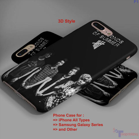 5sos and Amnesia - Personalized iPhone 7 Case, iPhone 6/6S Plus, 5 5S SE, 7S Plus, Samsung Galaxy S5 S6 S7 S8 Case, and Other