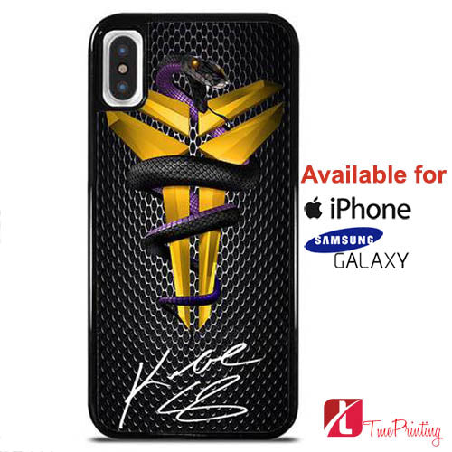 Kobe Bryant NBA Black Mamba On Carbon - Personalized iPhone X Case, iPhone Cases, Samsung Galaxy Cases 10785