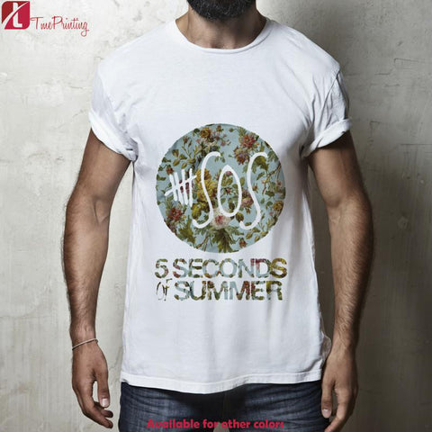 5SOS 5 Second of Summer Floral for Men T-Shirt, Women T-Shirt, Unisex T-Shirt