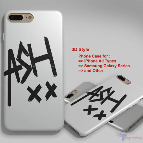 5SOS Ashton Irwin Signature 1 - Personalized iPhone 7 Case, iPhone 6/6S Plus, 5 5S SE, 7S Plus, Samsung Galaxy S5 S6 S7 S8 Case, and Other