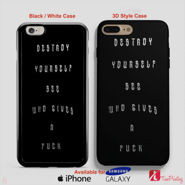 5SOS Destroy Yourself see Who Gives a Fuck - Personalized iPhone 7 Case, iPhone 6/6S Plus, 5 5S SE, 7S Plus, Samsung Galaxy S5 S6 S7 S8 Case, and Other