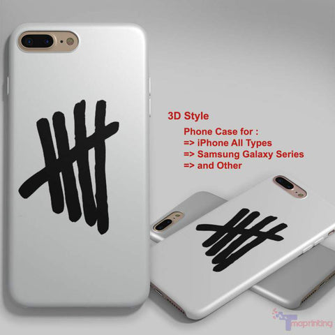 5SOS Logo - Personalized iPhone 7 Case, iPhone 6/6S Plus, 5 5S SE, 7S Plus, Samsung Galaxy S5 S6 S7 S8 Case, and Other