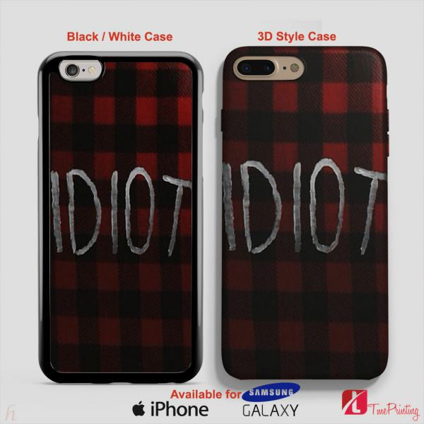 5SOS MICHAEL CLIFFORD IDIOT FLANEL 5 Seconds Of Summer - Personalized iPhone 7 Case, iPhone 6/6S Plus, 5 5S SE, 7S Plus, Samsung Galaxy S5 S6 S7 S8 Case, and Other