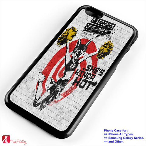 5SOS She is Kinda Hot 5 Seconds of Summer - Personalized iPhone 7 Case, iPhone 6/6S Plus, 5 5S SE, 7S Plus, Samsung Galaxy S5 S6 S7 S8 Case, and Other