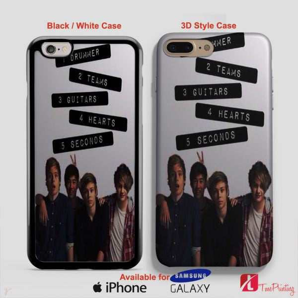 5sos and Calum hood Seconds Of Summer - Personalized iPhone 7 Case, iPhone 6/6S Plus, 5 5S SE, 7S Plus, Samsung Galaxy S5 S6 S7 S8 Case, and Other