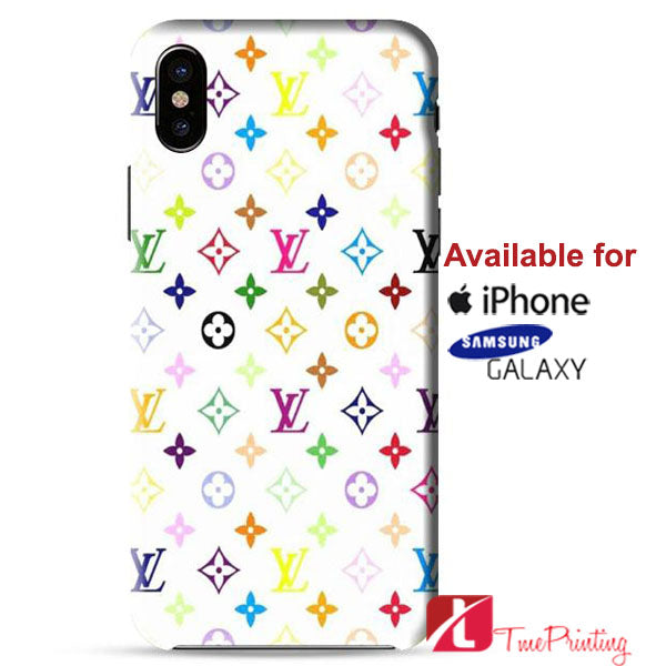 louis vuitton rainbow pattern personalized iphone x case, iphone