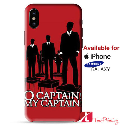 O Captain My Captain Personalized iPhone X Case, iPhone Case, Samsung Galaxy Case 9139