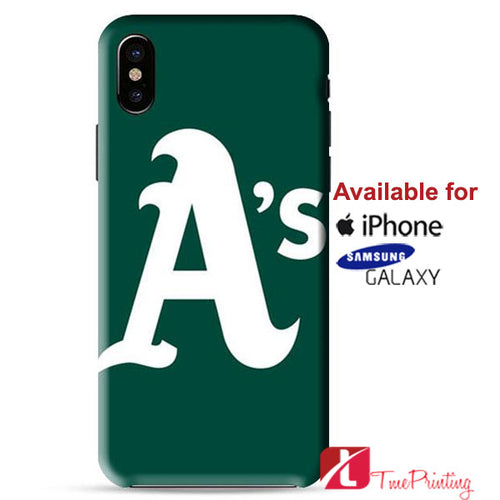 Oakland Athletics Art Personalized iPhone X Case, iPhone Case, Samsung Galaxy Case 9143