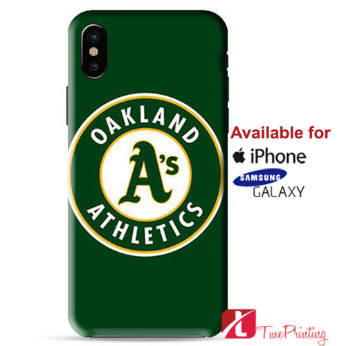 OAKLAND ATHLETICS BASEBALL LOGO GREEN Personalized iPhone X Case, iPhone Case, Samsung Galaxy Case 9144