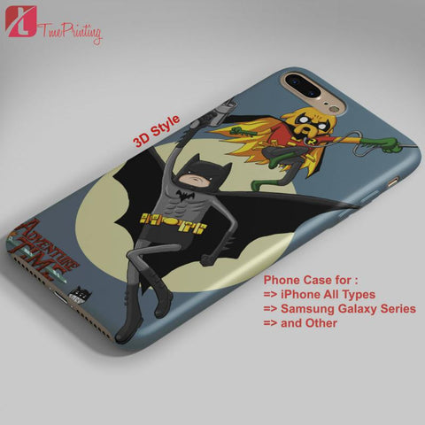 Adventure Time Batman & Robin Character - Personalized iPhone 7 Case, iPhone 6/6S Plus, 5 5S SE, 7S Plus, Samsung Galaxy S5 S6 S7 S8 Case, and Other