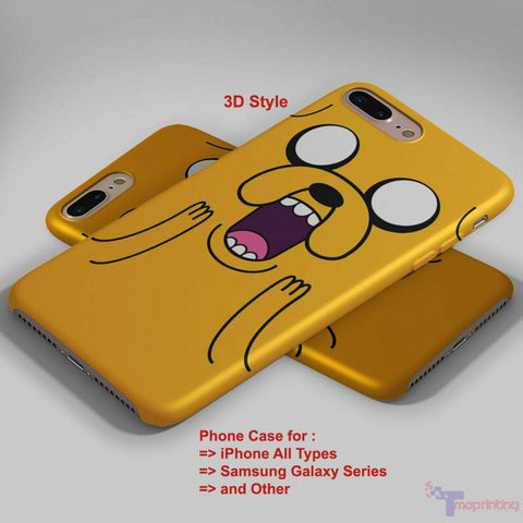 Adventure Time Jake Shock - Personalized iPhone 7 Case, iPhone 6/6S Plus, 5 5S SE, 7S Plus, Samsung Galaxy S5 S6 S7 S8 Case, and Other