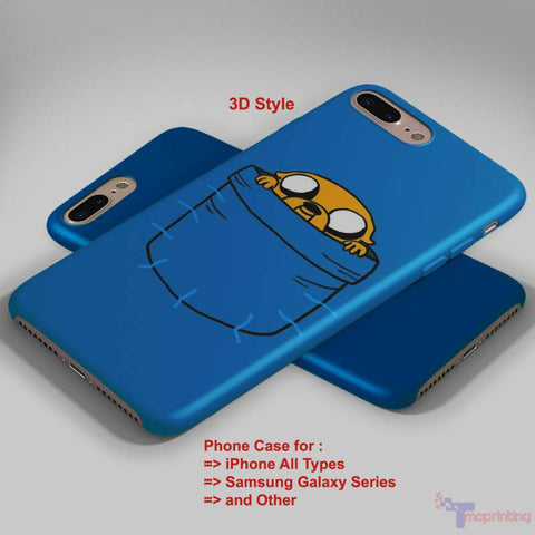 Adventure Time Pocket 2 - Personalized iPhone 7 Case, iPhone 6/6S Plus, 5 5S SE, 7S Plus, Samsung Galaxy S5 S6 S7 S8 Case, and Other