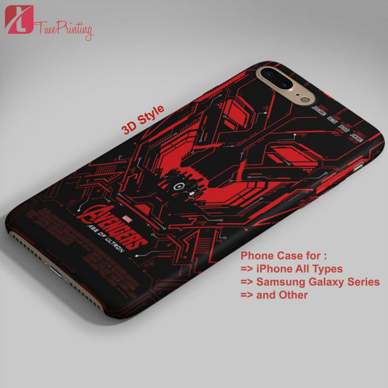 Age of Ultron The Avengers Superhero - Personalized iPhone 7 Case, iPhone 6/6S Plus, 5 5S SE, 7S Plus, Samsung Galaxy S5 S6 S7 S8 Case, and Other