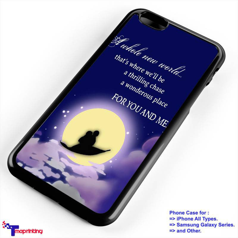 Aladin Quotes - Personalized iPhone 7 Case, iPhone 6/6S Plus, 5 5S SE, 7S Plus, Samsung Galaxy S5 S6 S7 S8 Case, and Other