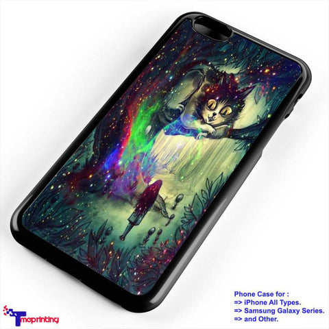 Alice in Wonderland Nebula - Personalized iPhone 7 Case, iPhone 6/6S Plus, 5 5S SE, 7S Plus, Samsung Galaxy S5 S6 S7 S8 Case, and Other