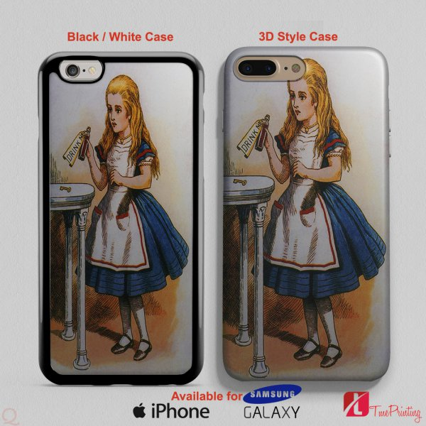 Alice in Wonderland story book Drink Me - Personalized iPhone X Case, iPhone Cases, Samsung Galaxy Cases 2848