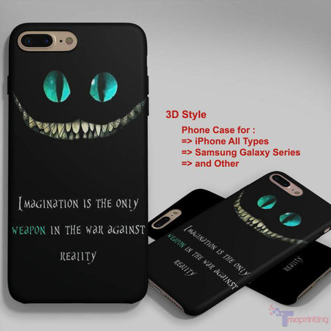 Alice in Wonderland we are all mad here - Personalized iPhone 7 Case, iPhone 6/6S Plus, 5 5S SE, 7S Plus, Samsung Galaxy S5 S6 S7 S8 Case, and Other
