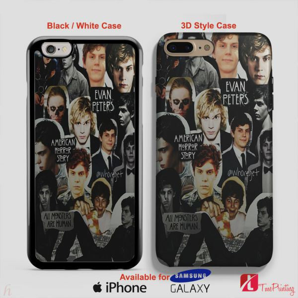 American Horror Story Evan Peters Collage Phone Case - Personalized iPhone 7 Case, iPhone 6/6S Plus, 5 5S SE, 7S Plus, Samsung Galaxy S5 S6 S7 S8 Case, and Other